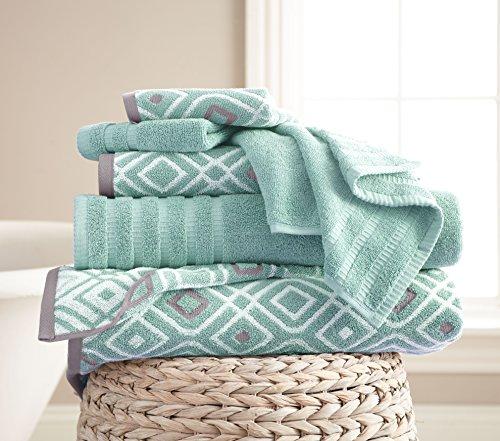 Amrapur Overseas 6-Piece Yarn Dyed Oxford Stripe Jacquard...