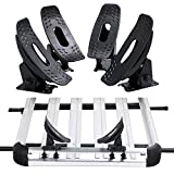 Yaheetech Kayak Carrier Cross Bars Boat Canoe Surf Ski Board Roof Top Mounted Rack Black