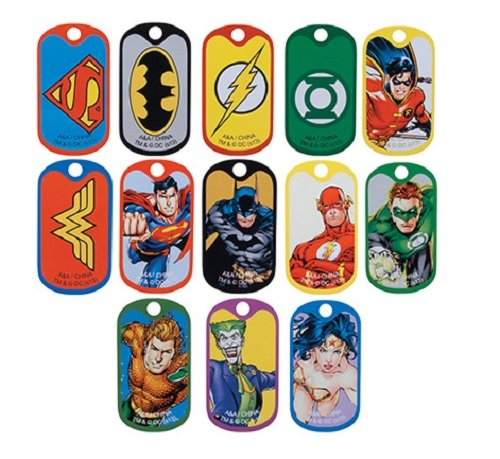 DC Comic Super Hero Dog Tags (2 Dozen)