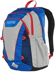 JanSport Ember Backpack - Blue Streak/High Risk Red