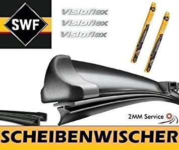 SWF VisioFlex 119281 Set 650 / 550 mm - Limpiaparabrisas Escobilla de Hoja Plana Limpiaparabrisas Delantero - 2mmService: Amazon.es: Coche y moto