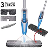 Spray Mop 2 In 1 Double Side 220ML Microfiber Mop with 4 Extra Refill Dry and Wet Mop Heads for Cleaning Hardwood and Floors