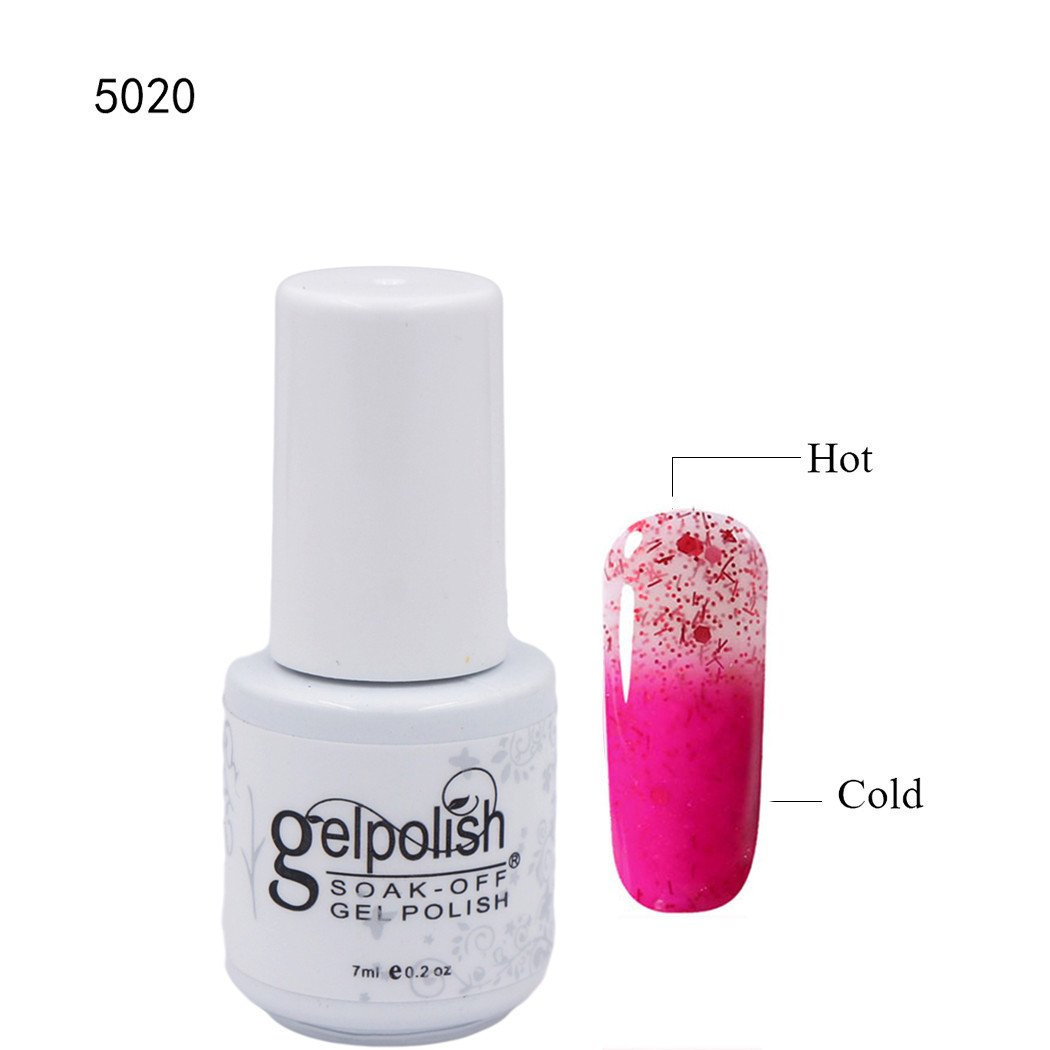 Clhvuz thermische Farbwechsel Gel Nagellack, LED / UV-Lack, Maniküre ...