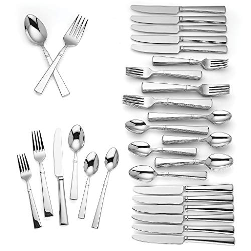 LENOX Hannington 74 - piece Flatware Set New in Box 18/10 Stainless steel Dishwasher safe ()