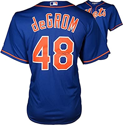 Jacob deGrom New York Mets Autographed Blue Replica Jersey - Fanatics Authentic Certified - Autographed MLB Jerseys