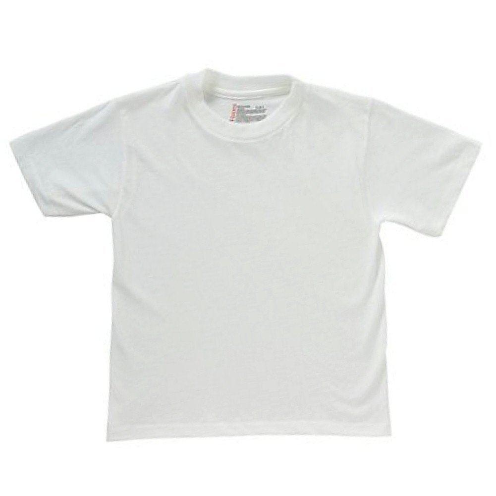 Hanes Boys Tagless Crewneck T-Shirt 5 Pack White XS/XP B21385