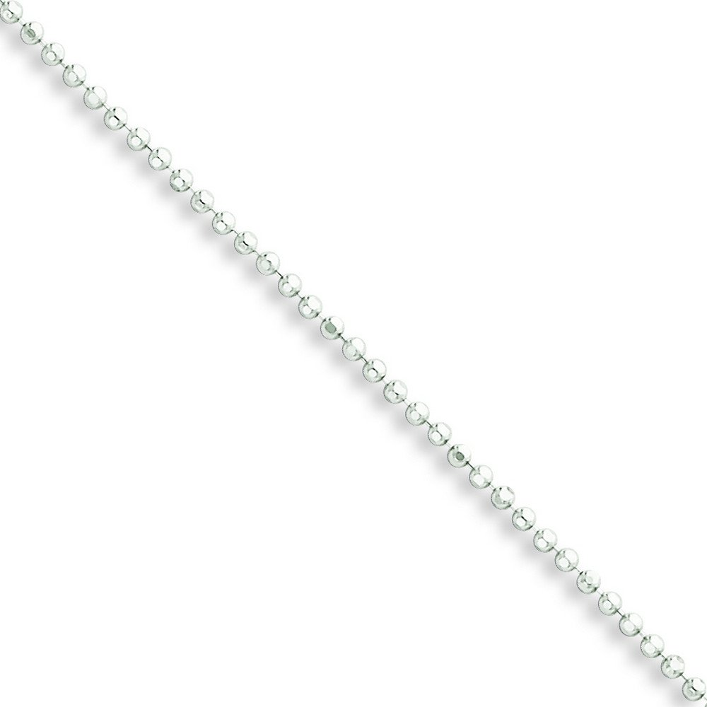 Anklet Sterling Silver Polished With 1.5in Ext