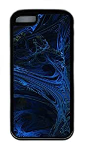 for ipod Touch 4 Case Blue Abstract Art Design TPU for ipod Touch 4 Case Cover Black