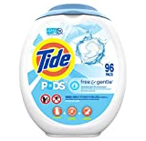 Tide PODS Free and Gentle Laundry Detergent, 96