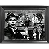 picture of a pool The Rat Pack Shooting Pool 3D Poster Wall Art Decor Framed Print | 14.5x18.5 | Lenticular Posters & Pictures | Memorabilia Gifts for Guys & Girls Bedroom | Frank Sinatra, Dean Martin & Sammy Davis Jr