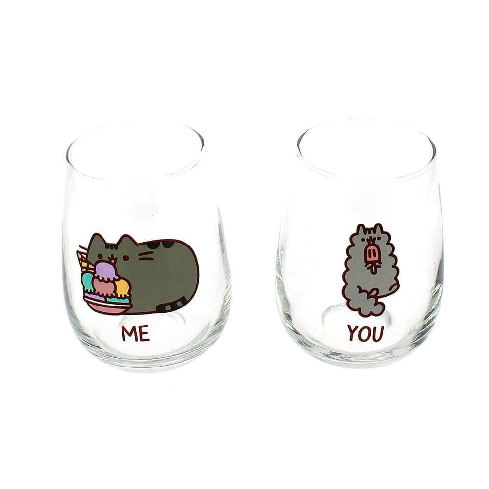 Pusheen Las gafas de gato juego de 2 500ml You & Me Stormy Elbenwald PUSG2894
