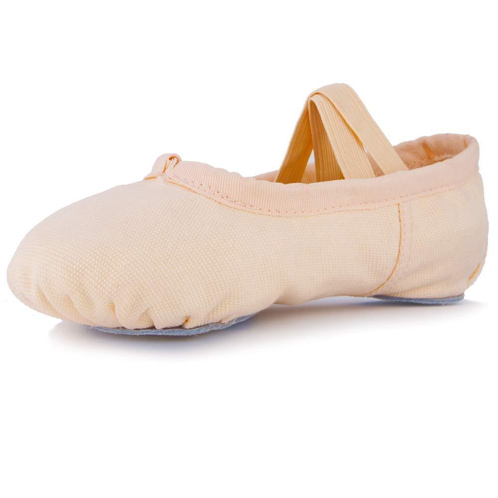 BSC-1001 Debug Girls Canvas Ballet Shoes//Slippers Toddler//Little Kids
