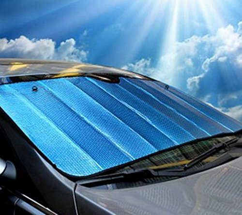 EFORCAR(R) 1PCS Blue Truck Van SUV Auto car sun visors windshield sun shade car shades 140x70cm