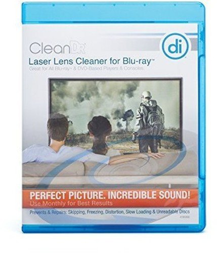 Digital Innovations CleanDr for Blu-Ray Laser Lens Cleaner for Blu-Ray / DVD / PS3 / PS4 / XBOX / XBOX 360 / XBOX ONE ()