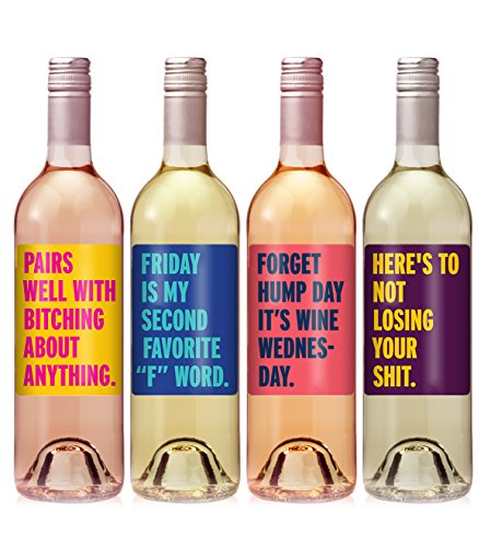 Brutally Honest Wine Label Set - set of 4 - Exactly like Photo