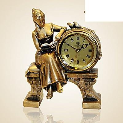 Reloj europeo/Ornamentos del sal¨®n de la moda/ relojes decorativos creativos/ reloj antiguo en el dormitorio/ reloj/Reloj-D