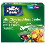 Toppits® Mini Zip - Verschluss Beutel / Allzweck Beutel (20 x 150 ml + 20 x 380 ml / Ziploc Verschluss)