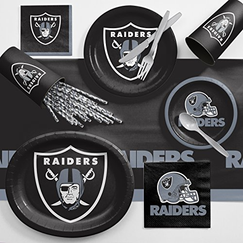 - Creative Converting Oakland Raiders Ultimate Fan Party Supplies Kit