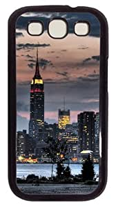 Brightly-lit Empire State Building PC Case Cover For Samsung Galaxy S3 SIII I9300 Black