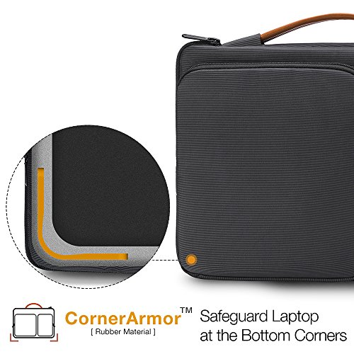 Surface Microsoft 360° Original C Bag Protective XPS Laptop USB 13 2018 Accessory 13 Black Shoulder Dell Pocket with 5 Compatible 3 Pro Pro New Handle amp; inch 2016 4 Black tomtoc MacBook z8w5w