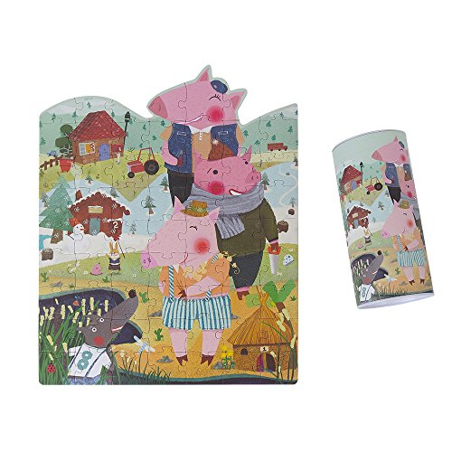 [USATDD Jigsaw Puzzles With Box - Three Little Pigs (63 Piece)] (Little Pig Costumes)