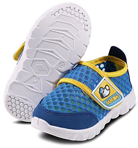 4308944f2b463b Galleon - DADAWEN Baby s Boy s Girl s Breathable Strap Light Weight Casual Sneakers  Running Shoes Dark Blue US Size 9.5 M Toddler