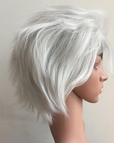 Seven Deadly Sins Costumes For Halloween (Tsnomore Seven Deadly Sins Short Grey Cosplay Wig (Grey))