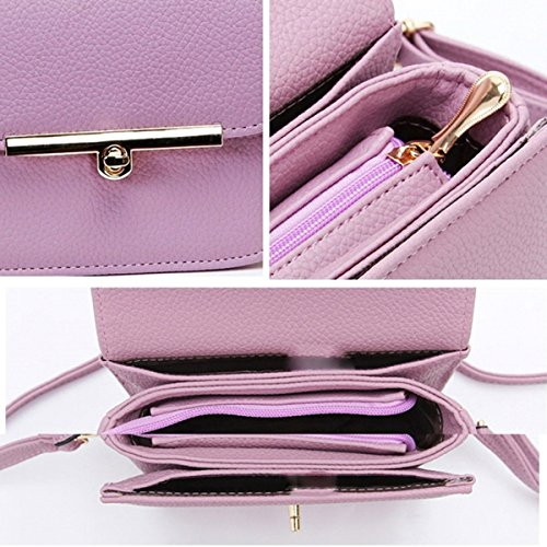 Mini Sacs PU Femmes Cross Messenger Cuir Girls Pour Embrayage Vintage Darkpink épaule Bag Bags Lady Body Womens à Main Simple qnt55XO