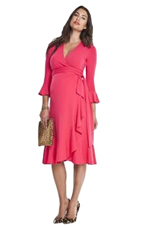 465f12a0f49 Isabella Oliver Ruffle Wrap Maternity Dress (5 (US Size 12-14)