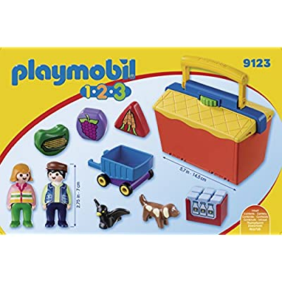 Playmobil Take Along Market Stall Building Set: Toys & Games