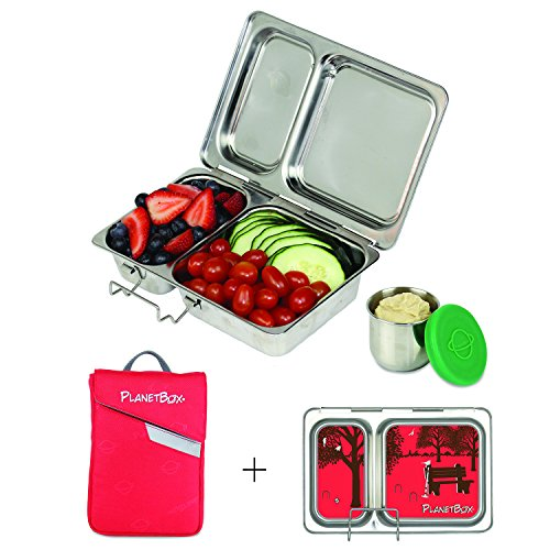 PlanetBox SHUTTLE Eco-Friendly Stainless Steel Bento Lunc...