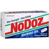 NoDoz Alertness Aid Caplets 60 each Pack of 3