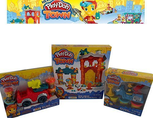 Play Doh Firehouse FireTruck Police Playset product image