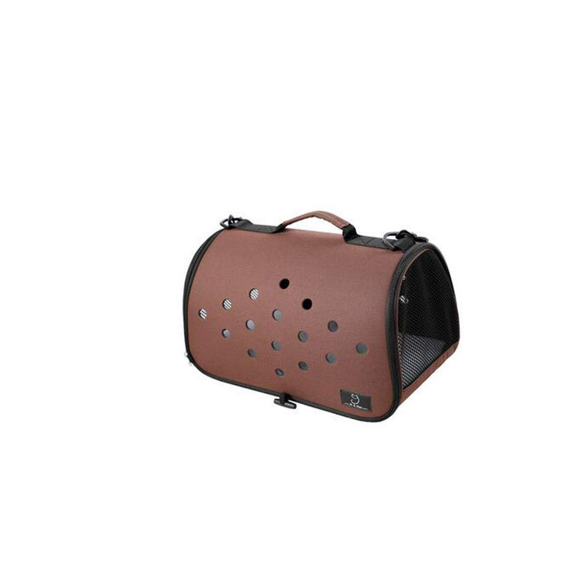 Brown PVA Portable Pet Bag for Outdoor Travel, Leisure, Pet Bag Teddy Outing Package (color   Brown)