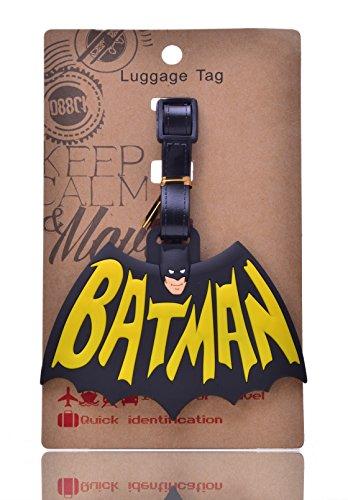 REINDEAR Bat Man Logo Heavy Duty Baggage Travel Luggage ID Tag US Seller (#3)
