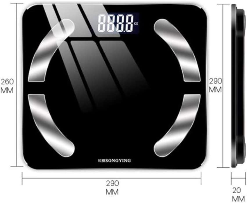 2019 Charging Smart Bluetooth Fat Scale APP Weight Scale Electronic Scale Household Health Scale,White Pink