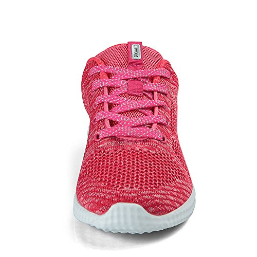 BRKVALIT Unisex Fitness Lightweight Sports Running Shoes Mens Womens Gym Trainers Walking Trainers Shoes Pink IPIIC5