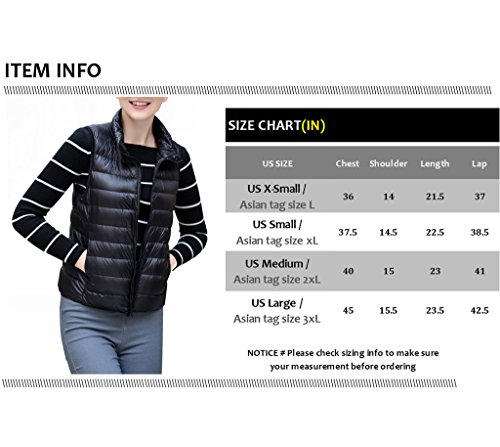 Women's Stylish Lightweight Packable Down Puffer Sleeveless Fall & Winter Vest Navy US Large(Asian 3XL) by HENGJIA (Image #5)