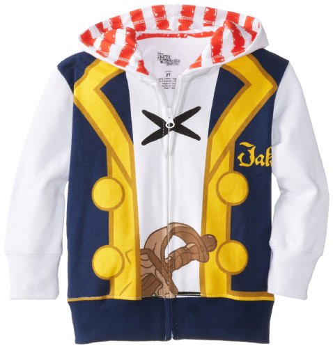 Disney Little Boys' Jake Costume Hoody, White, 4T]()