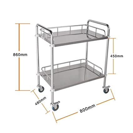 Amazon.com: PLLP Carro de hospital, suministros médicos Rack ...