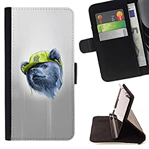 Momo Phone Case / Flip Funda de Cuero Case Cover - Gangsta Oso;;;;;;;; - Apple Iphone 4 / 4S
