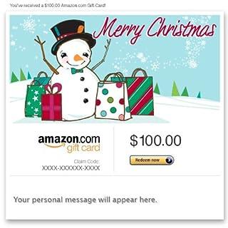 Amazon Gift Card - Email - Merry Christmas (Shopping Snowman) (B004LLILHS) | Amazon price tracker / tracking, Amazon price history charts, Amazon price watches, Amazon price drop alerts