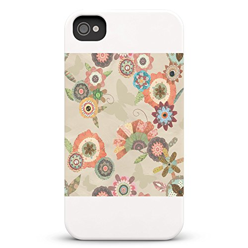 Koveru Back Cover Case for Apple iPhone 4/4S - Flower Bouquets Butter