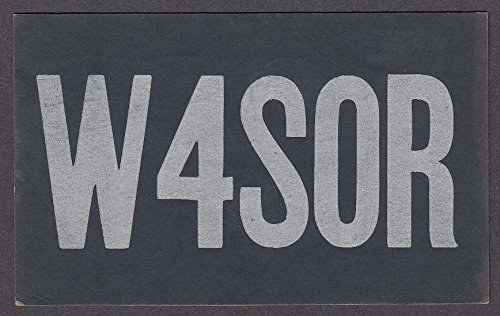 W4SOR Brown Taylor Nashville TN QSL card 1951
