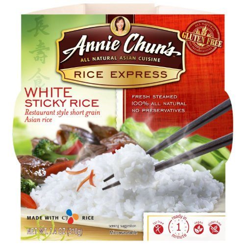 Annie Chun's Rice Express White Sticky Rice 7.4 oz (Pack of 36) by Annie Chuns