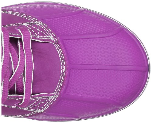 crocsAllcast Leather Duck Boot W - botas Mujer Morado (Violett (Viola/White))