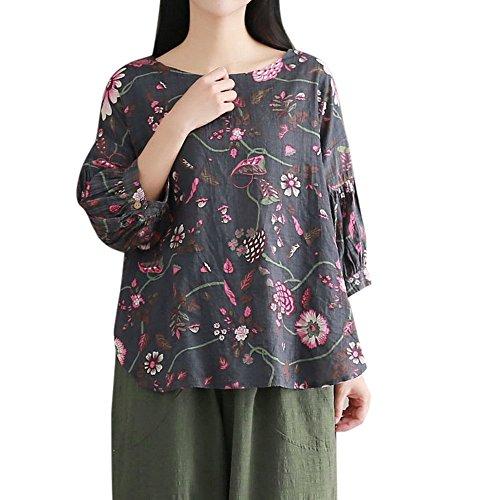 ヘア小切手悩むHosam レディース リネン 上着 花柄 森ガルズ ゆったり 快適 夏 ファッション 大人 おしゃれ 体型カバ― お呼ばれ 通勤 日常 快適 大きなサイズ シンプルなデザイン 20代30代40代でも (M, グリーン)