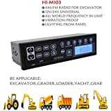 Heavy Duty Radio,Excavator Radio With AUX And USB Input 12V 24V Heavy Duty AM/FM Radio for Tractor Truck Grader