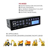 Heavy Duty Radio,Excavator Radio With AUX And USB Input 12V 24V Heavy Duty AM/FM Radio for Tractor Truck Grader