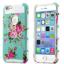 iPhone 4S Case, iPhone 4 Case, TPU + Pc Dual Layer Hybrid Fashion Shockproof Soft Hard Defender Case Cover for Apple iphone 4/ 4S (Orchid-White)